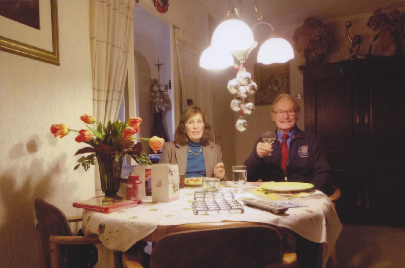 Rien en Tamara van de Voort vieren kerst met zijn tweetjes.