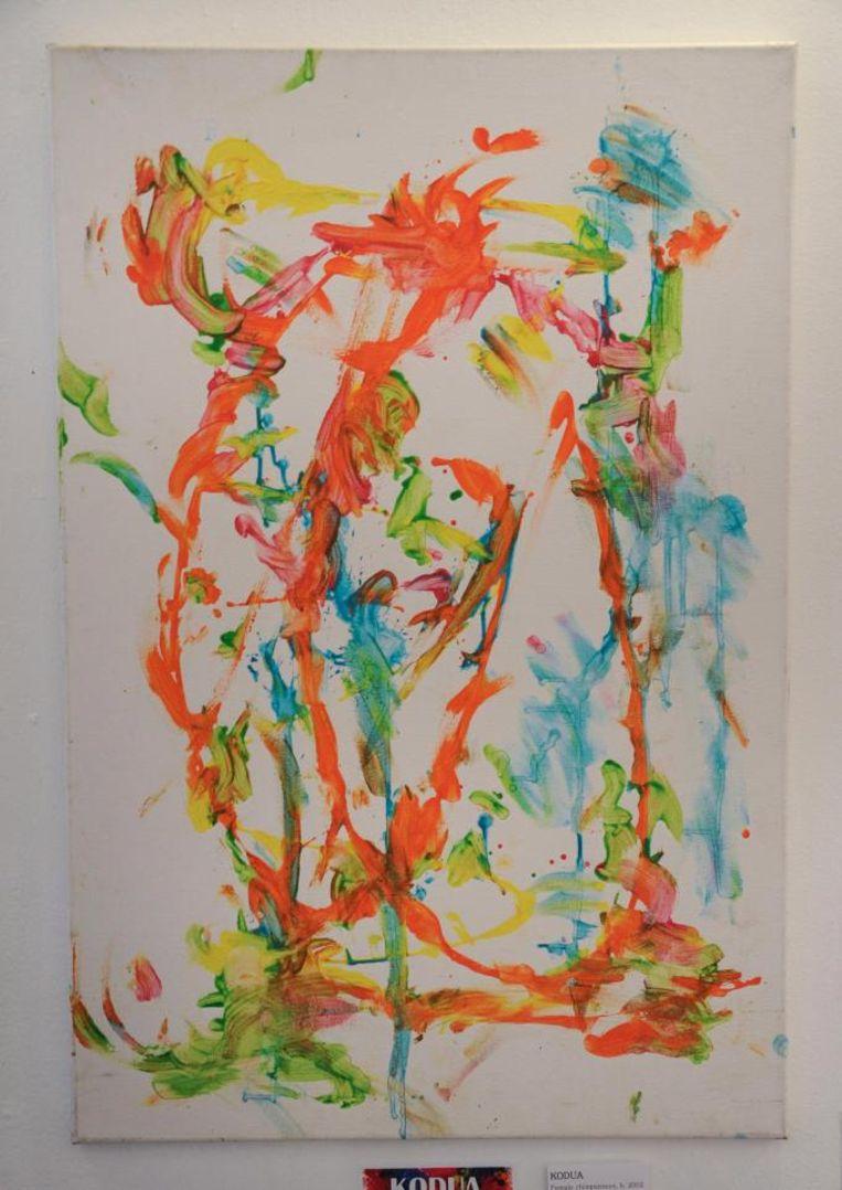 Een van de werken van Bubbles. Beeld Frames USA & Art Gallery
