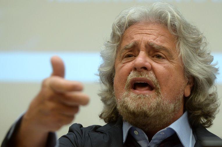 In Italië is komiek Beppe Grillo al een tijd de leider van de grootste oppositiepartij. Beeld afp