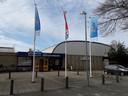 De verouderde Hispohal aan de Kennedylaan in Hilvarenbeek.