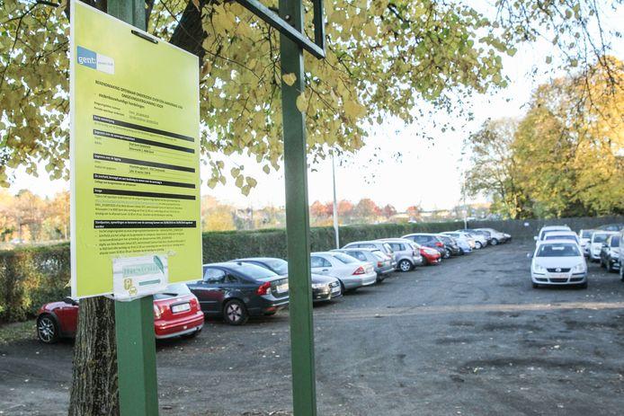 Park and ride in Maaltebruggepark.