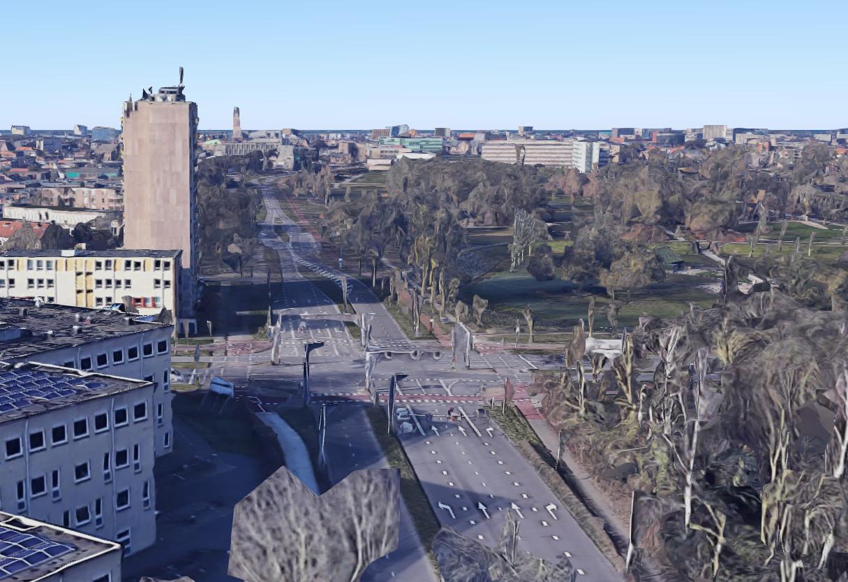De kruising van de Marsweg met de Hortensiastraat in Zwolle.