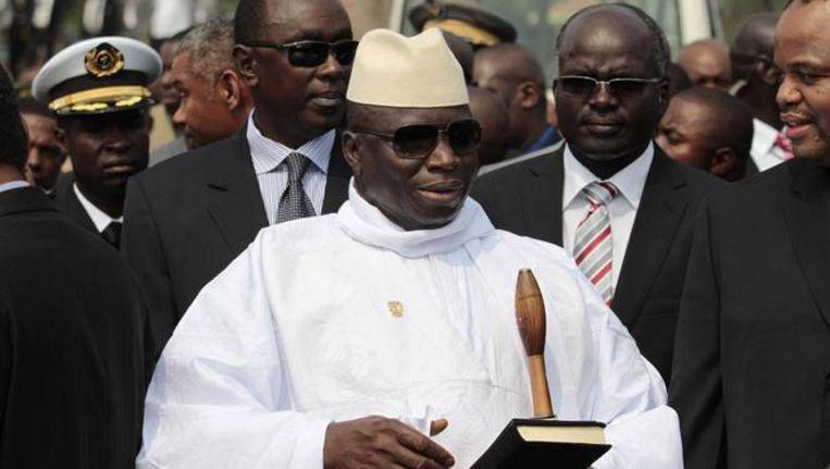 De president van Gambia, Yahya Jammeh.