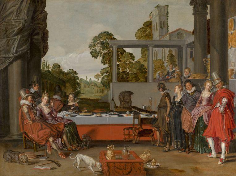 Vrolijk gezelschap in de open lucht, c. 1616-1617 Doek, 71 × 94 cm Beeld Margareta Svensson