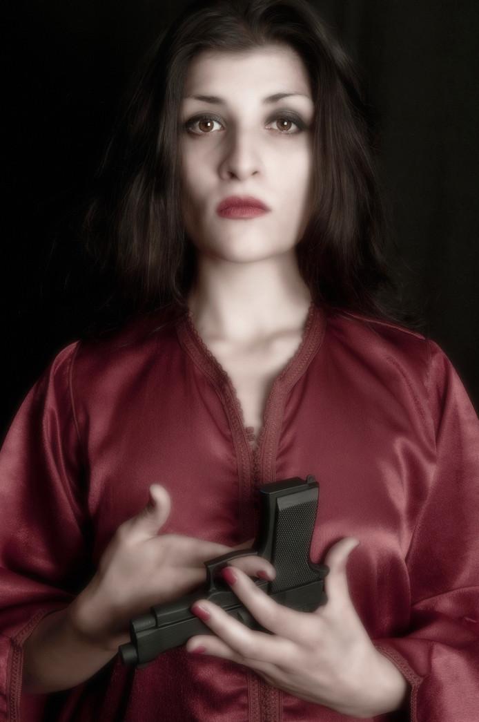 'Violent red', werk van Corrine Kruger.