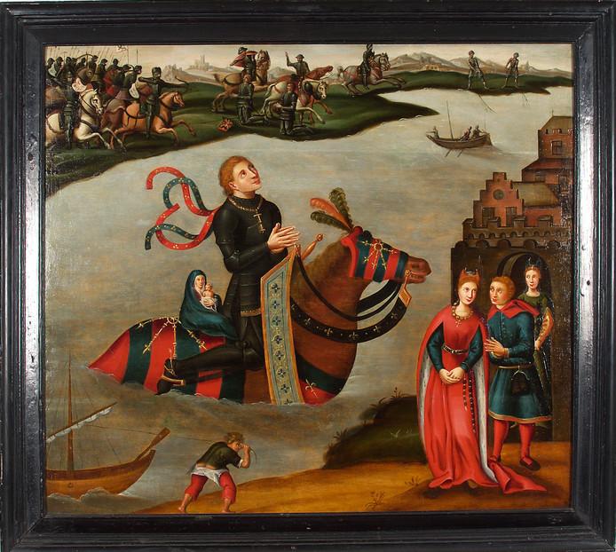 Het schilderij 'De legende van de stichting van de Abdij van Berne'.