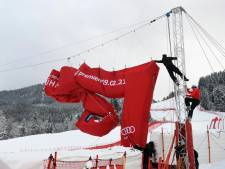 Spectaculaire Hahnenkammrennen voor skiërs dag verplaatst wegens regen