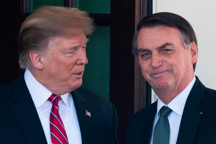 Donald Trump et Jair Bolsonaro.