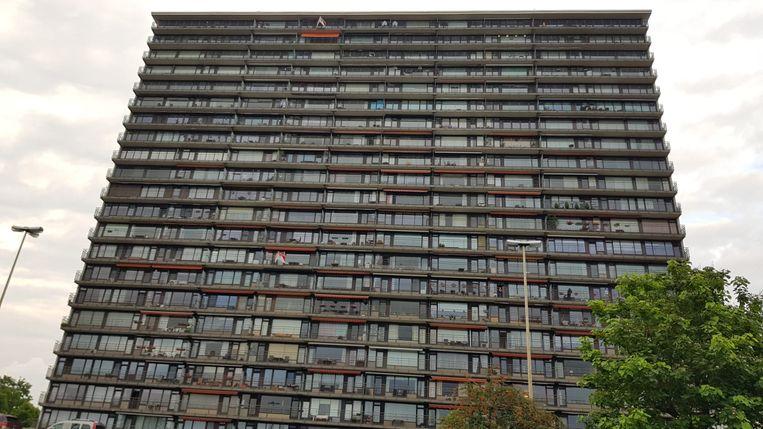 Het koppel woonde op de elfde verdieping.