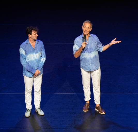 Thom Stuart (l) en Rinus Sprong van De Dutch Don't Dance Division