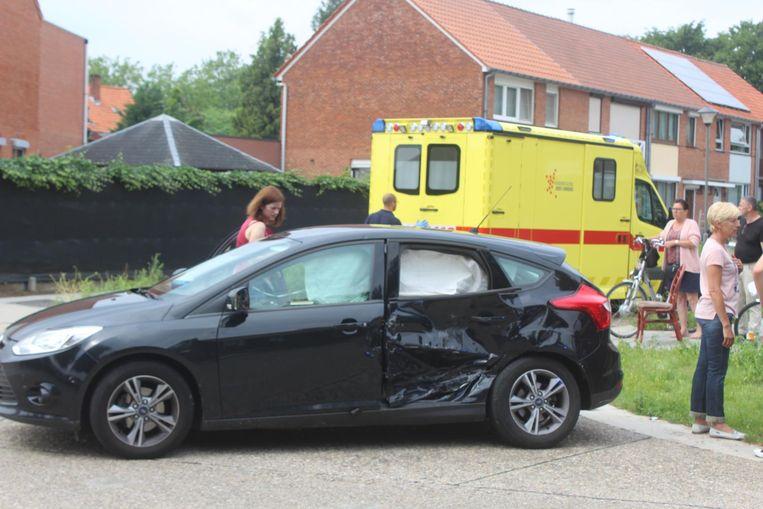 De wagen van het slachtoffer werd achteraan aangereden.