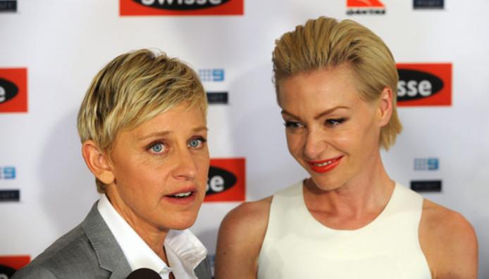 Ellen DeGeneres en haar vrouw Portia de Rossi