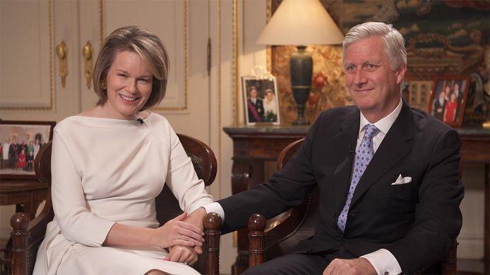 """Le Roi et la Reine se sont confiés dans l'émission """"Le temps d'une histoire: Philippe et Mathilde 20 ans déjà"""", diffusée sur La Une."""