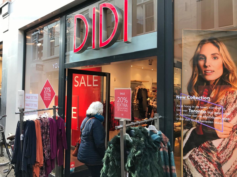 Modeketen Didi is failliet, maar de 81 winkels blijven nog even open.