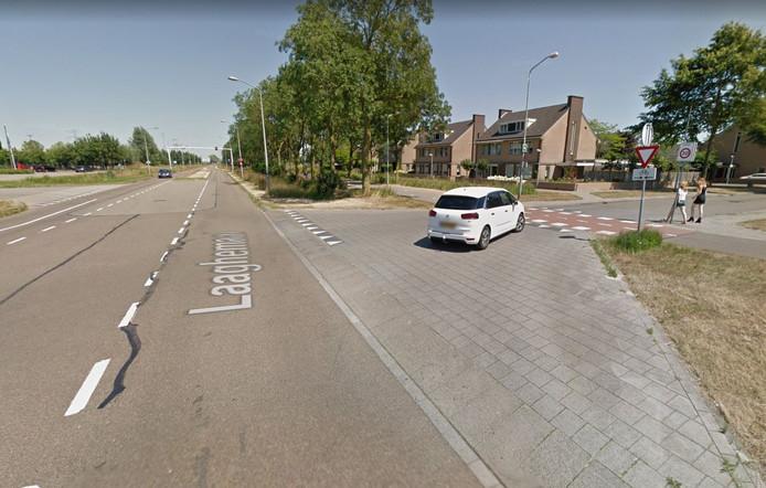 De kruising Oosteinderweg met Hooghemaal