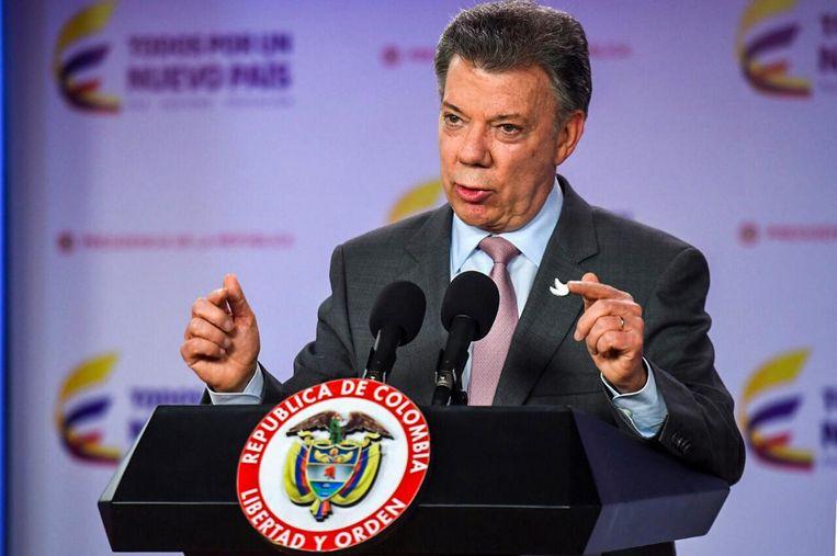 De Colombiaanse president Juan Manuel Santos. Beeld afp