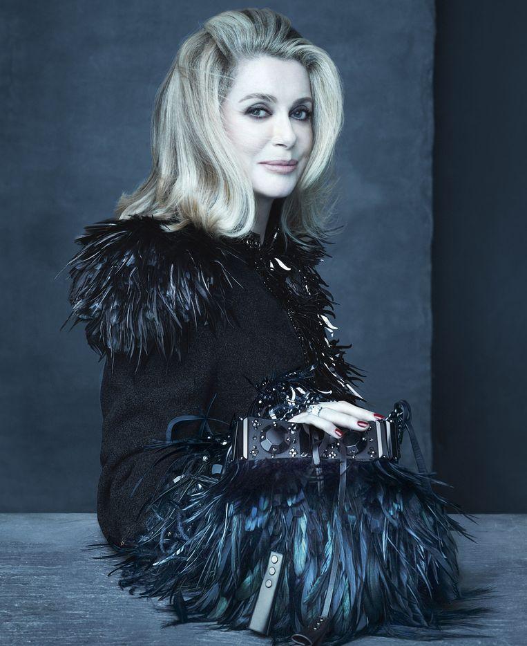 Catherine Deneuve voor Louis Vuitton.