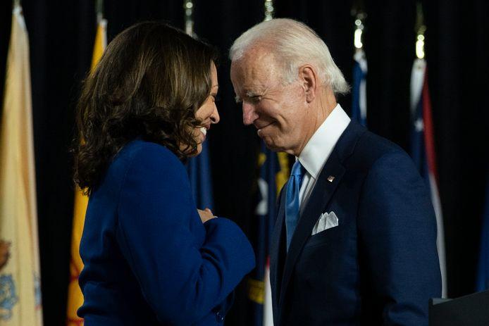 Joe Biden met Kamala Harris.