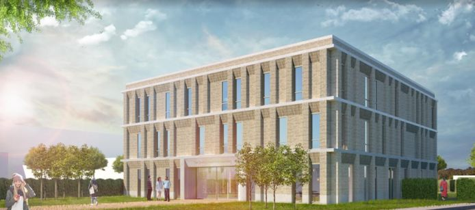 Het definitief ontwerp van de nieuwe daklozenopvang aan de Slingerweg in Breda.