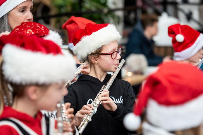 Een kerstmarkt op de Noordkade in Veghel afgelopen jaar.