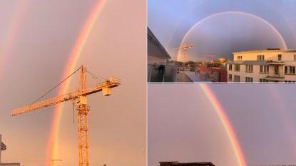 """IN BEELD. Prachtige dubbele regenbogen gespot: """"Nog nooit zo dicht bij een pot goud gestaan"""""""