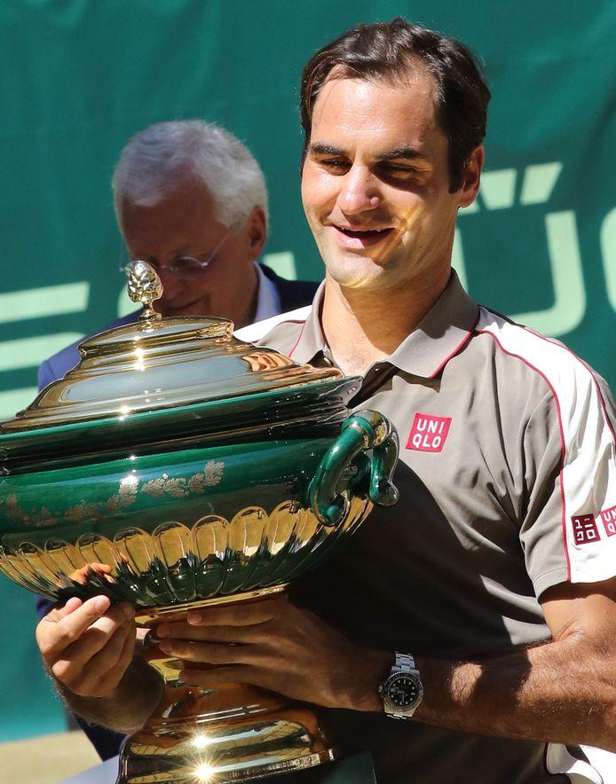 Rogerer Federer na zijn winst in Halle.
