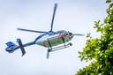 Een politiehelikopter, foto ter illustratie
