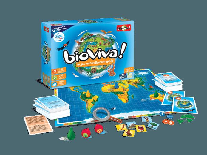 Bioviva, un jeu familial varié, ludique et intelligent. De nombreux défis à relever et un tas de choses à apprendre... parfait pour les Fêtes!