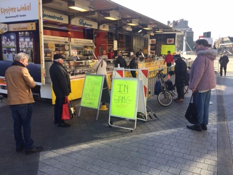Vorige week was er wel nog woensdagmarkt in Deinze.