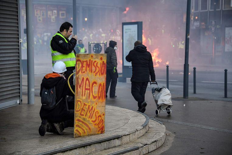 Betoging in Rennes afgelopen zaterdag.
