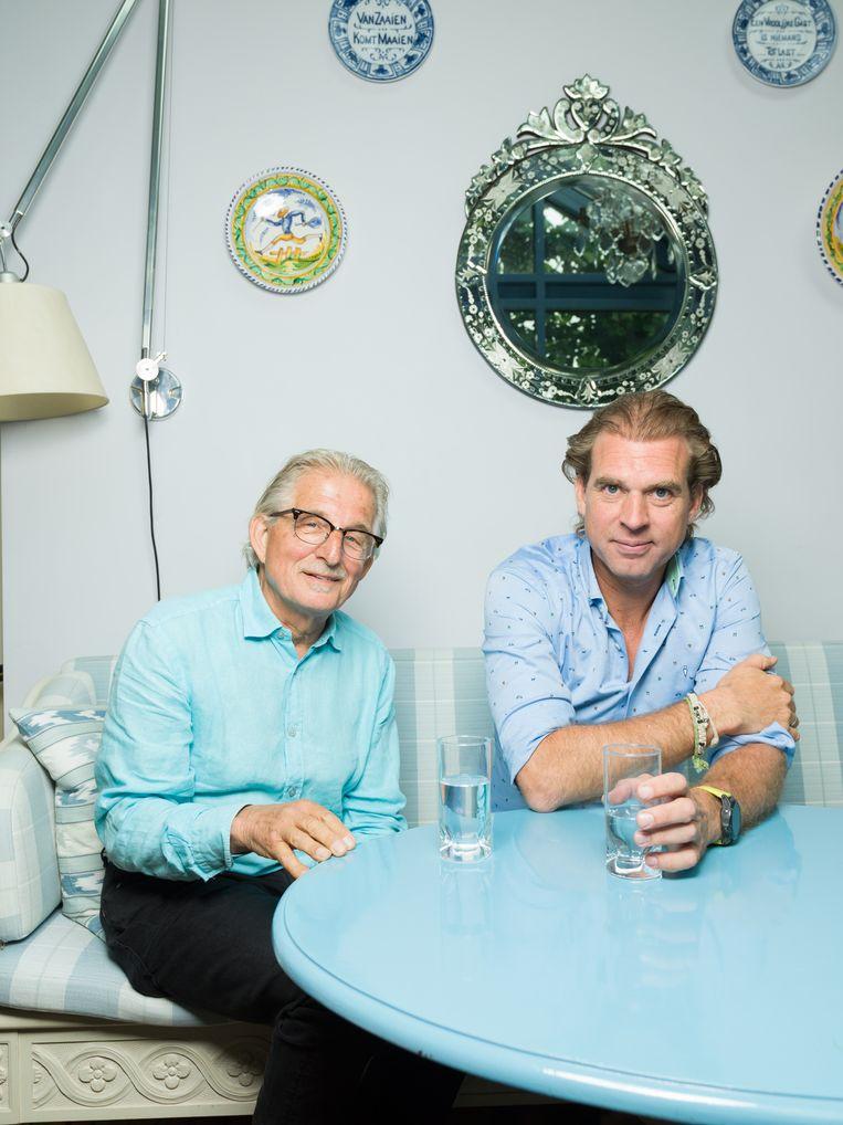 Frans Bromet en Rutger Castricum. Beeld Ivo van der Bent