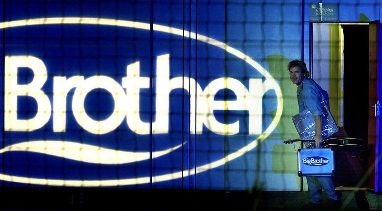 Big Brother-Ruud verlaat het huis. Beeld ANP