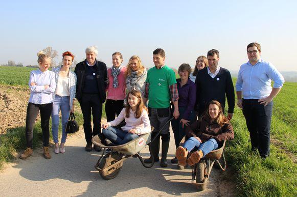 Enkele liberale politie kwamen de boeren, het Algemeen Boerensyndicaat en Recycling Netwerk Benelux steunen.