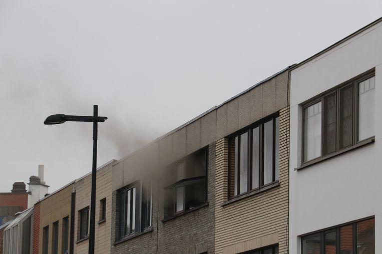 In de woning was heel wat rookontwikkeling door de brand.