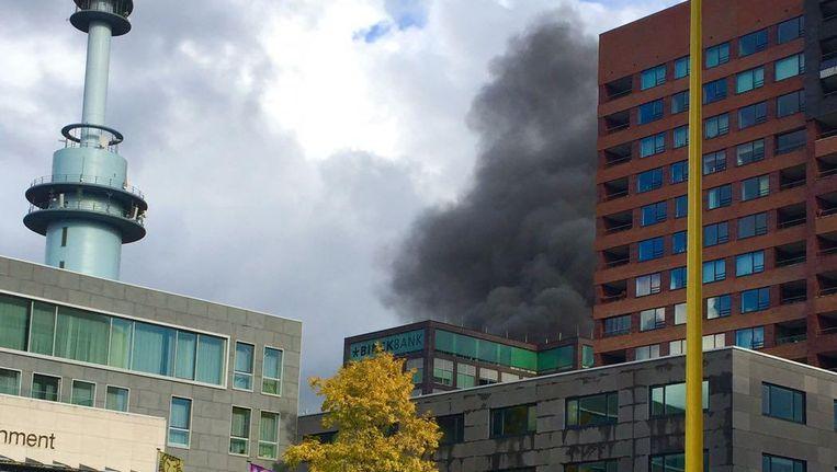 Brand op de Zuidas Beeld Rebecca Leeuwenberg