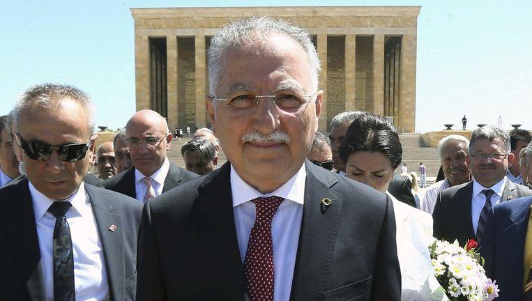 Ekmeleddin Ihsanoglu, de presidentskandidaat van de seculiere en de nationalistische partij. Beeld afp