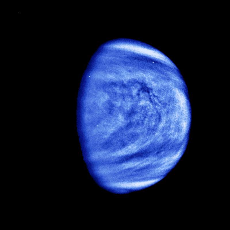 De planeet Venus op een foto van NASA.