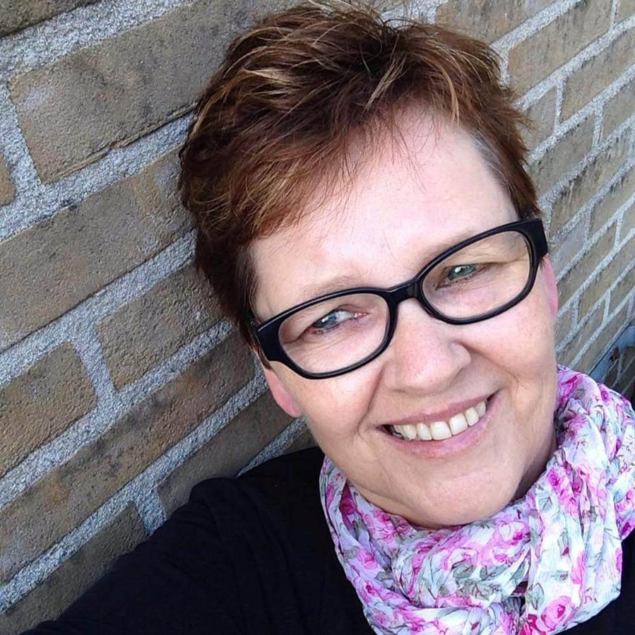 Een selfie van Anneke Kamp.