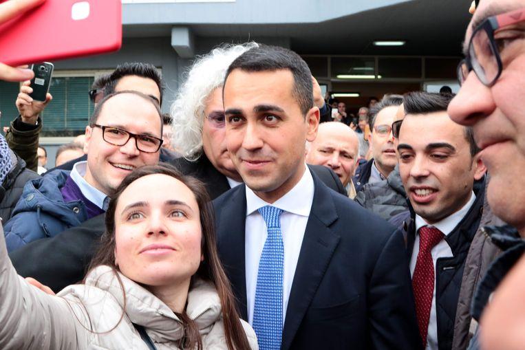 Luigi Di Maio, partijleider van de Vijfsterrenbeweging.