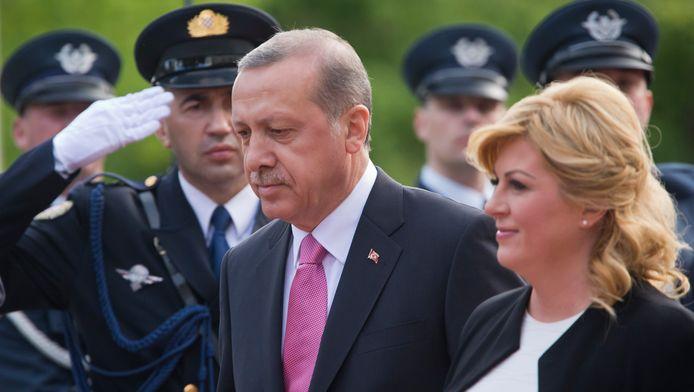 De Turkse premier Erdogan was vorige week nog op bezoek bij zijn Kroatische collega Kolinda Grabar-Kitarovic.