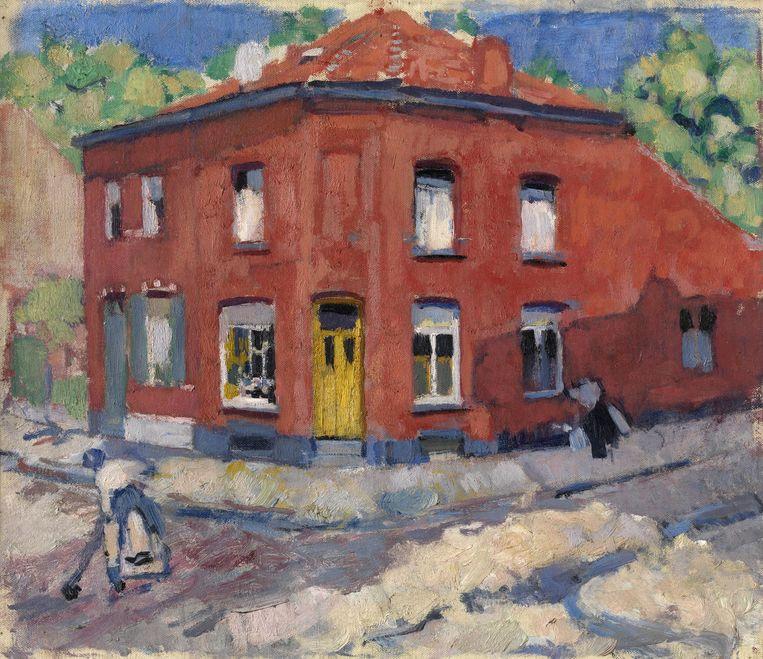 Het rode huis, late sneeuw van Rik Wouters (1907-1908) Beeld Lukasart