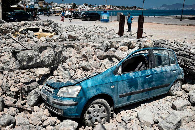 De schade was aanzienlijk na de aardbeving op Kos dit jaar