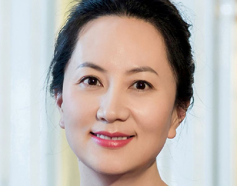 Meng Wanzhou, financieel directeur van Huawei.