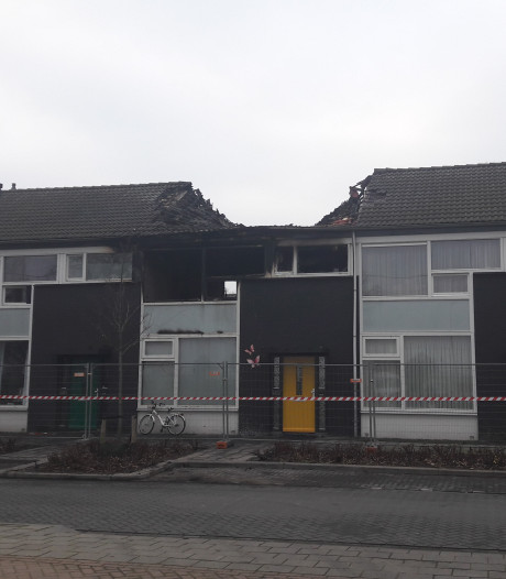 Drie woningen Sibeliusstraat Tilburg onbewoonbaar na brand