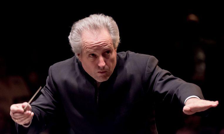 De vervangende dirigent Manfred Honeck Beeld EPA