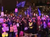 Demonstranten tegen Brexit dolblij met uitslag stemming