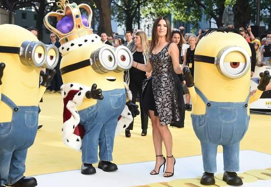 Actrice Sandra Bullock bij de internationale premiere van de film Minions