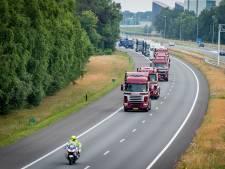 TruckRun vanuit Enschede: honderden vrachtwagens  op de weg
