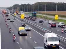 Flinke vertraging A28 tussen Zwolle en Staphorst door werkzaamheden