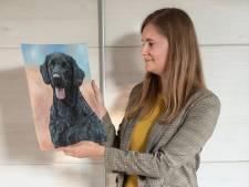 Gerjanne (24) zet jouw huisdier op papier: 'Ik doe 15 uur over een portret'